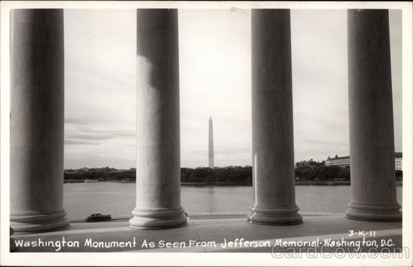 Washington Monument as seen from Jefferson Memorial District of Columbia