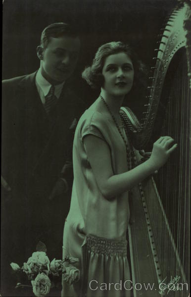 Man and Woman with a Harp Romance & Love Music