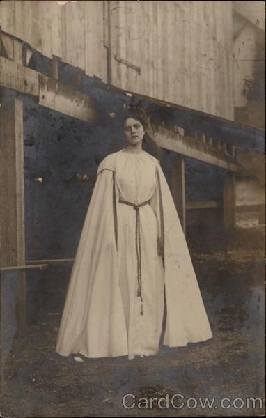 Italian Woman in White Robes Women