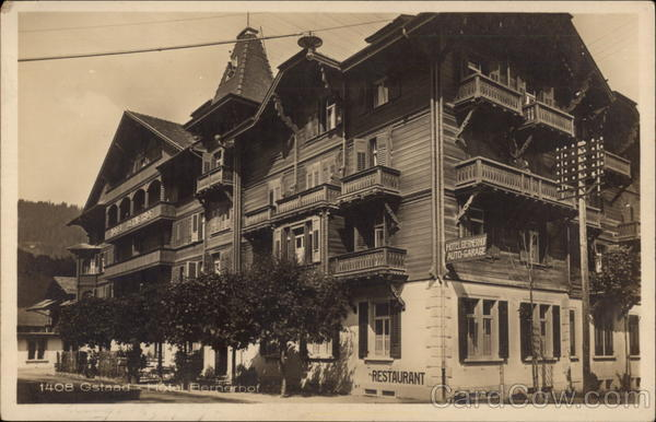 1408 Gstaad. Hotel Bernerhof Switzerland