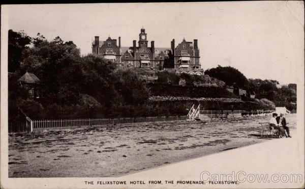 The Felixstowe Hotel from the Promenade England