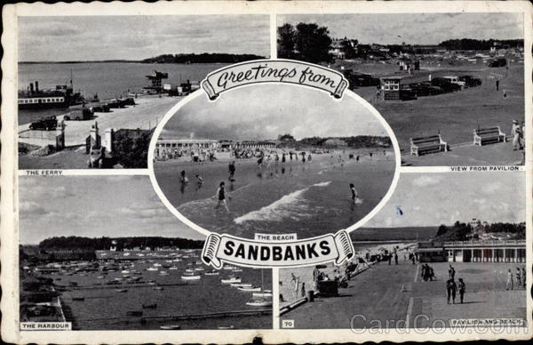 Greeting from Sandbanks Poole England Dorset