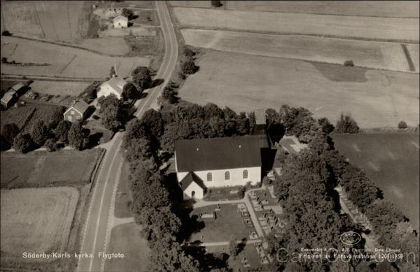 Aerial View of Church in Söderby-Karl Sweden
