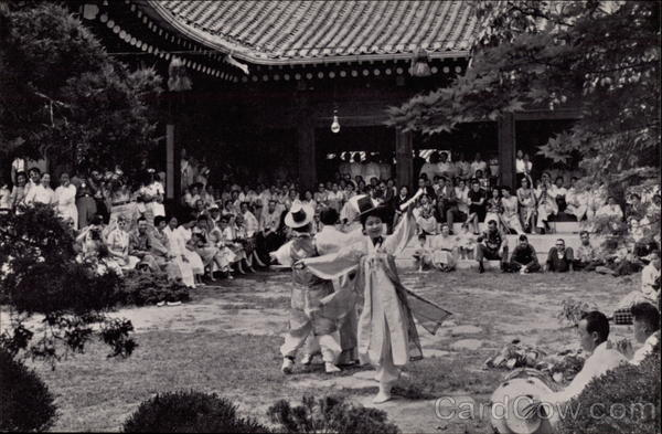 Korean Folk Dance Seoul South Korea