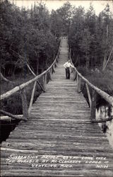 Suspension Bridge, 255 ft. long over the Rusable at McClanahan Lodge