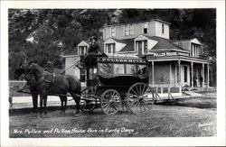 Mrs. Pullen and Pullen House Bus in Early Days