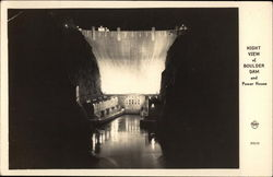 Night View of Boulder Dam and Power House