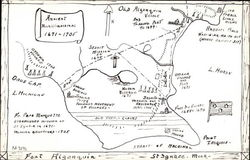 Hand Drawn Map of Fort Algonquin