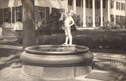 Fountain with Statue of Boy