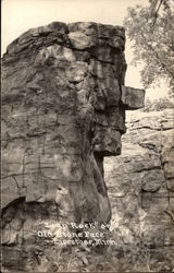 Leap Rock or Old Stone Face Postcard