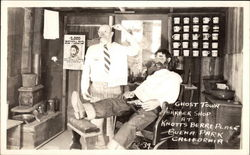 Ghost Town Barber Shop at Knott's Berry Place
