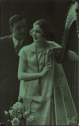 Man and Woman with Harp