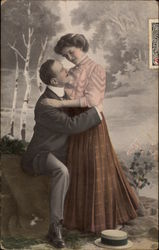 Man Holding Woman by the Waist