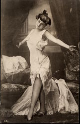 Woman Posing in Undergarments
