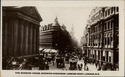 The Mansion House, showing Cheapside Looking West Postcard