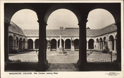 Winchester College. War Cloister, looking West