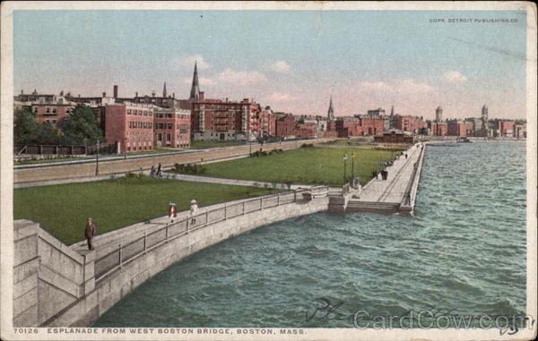 Esplanade from West Boston Bridge Massachusetts