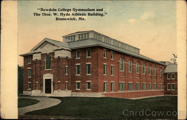 Bowdoin College Gymnasium and the Thos. W. Hyde Athletic Building Brunswick Maine