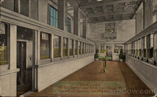 Public Lobby, The Peoples National Bank Lynchburg Virginia