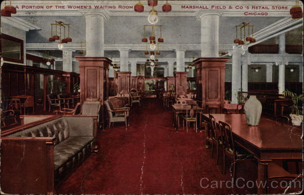 Portion of the Women's Waiting Room, Marshall Field & Co.'s Retail Store Chicago Illinois