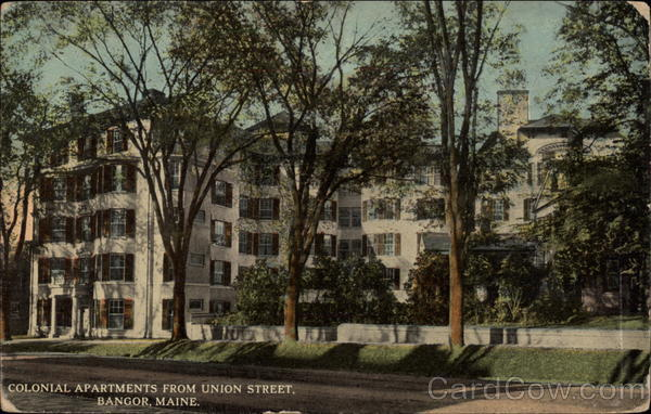 Colonial Apartments from Union Street Bangor Maine