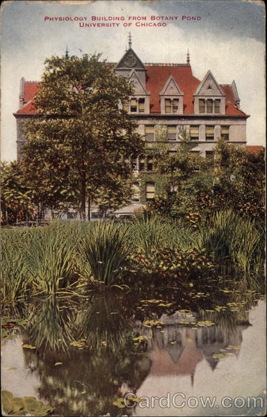 Physiology Building from Botany Pond, University of Chicago Illinois