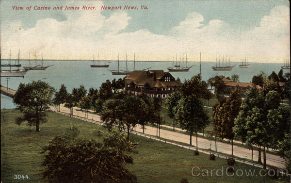 View of Casino and James River Newport News Virginia