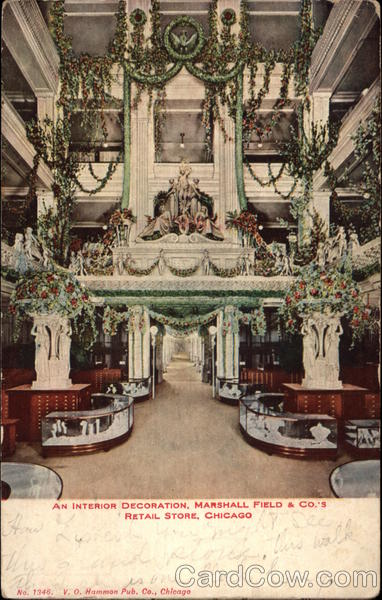Interior Decoration, Marshall Field & Co.'s Retail Store Chicago Illinois