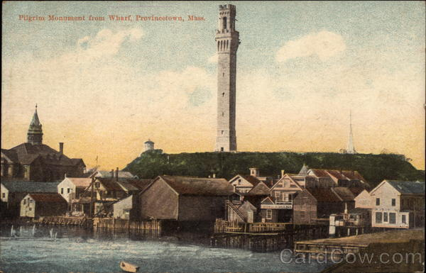 Pilgrim Monument from Wharf Provincetown Massachusetts