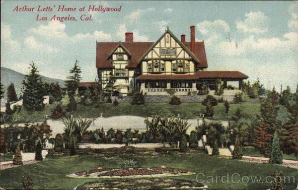 Arthur Letts' Home at Hollywood Los Angeles California