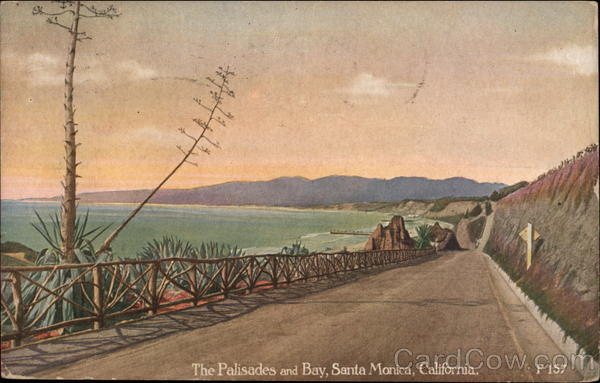 The Palisades and Bay Santa Monica California