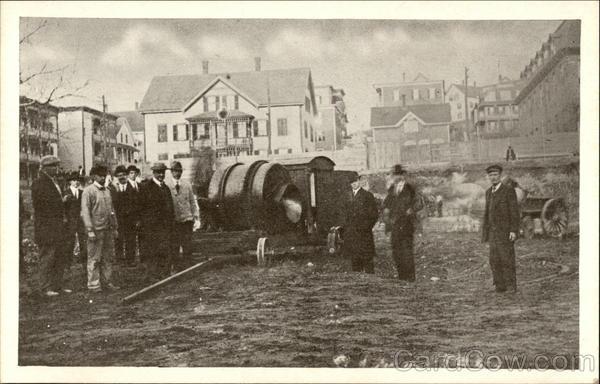 Construction of St. Ann's Roman Catholic Church (Paroisse Ste. Anne) Woonsocket Rhode Island