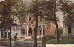 James Whitcomb Riley's Residence Postcard