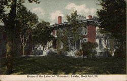 Home of the late Col. Thomas G. Lawler Postcard
