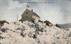 Ice jam at Anglers Retreat Postcard