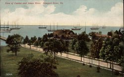 View of Casino and James River