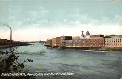 View of Mills and Merrimack River
