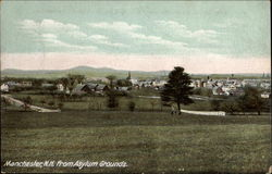 View of Town from Asylum Grounds Postcard