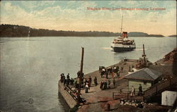 Niagara River Line Steamer nearing Lewiston Postcard