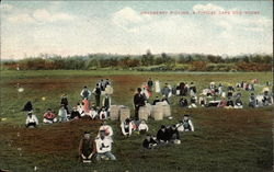 Cranberry Picking, a Typical Cape Cod Scene