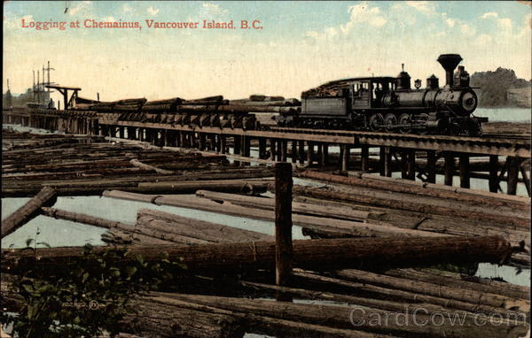 Logging at Chemainus Vancouver Island Canada British Columbia