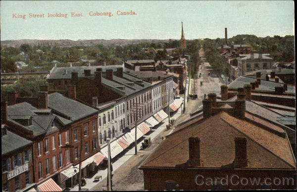 King Street Looking East Cobourg Canada Ontario