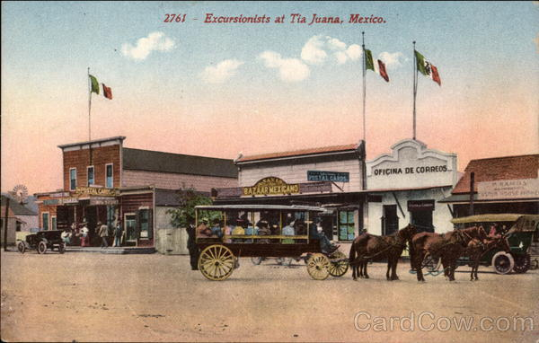 Excursionists Tia Juana Mexico 1915 Panama-California Exposition