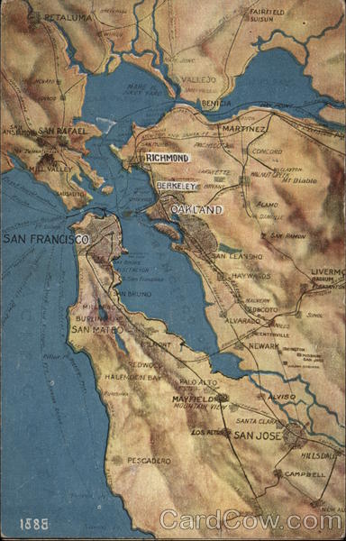 Map of San Francisco Bay Area California Maps