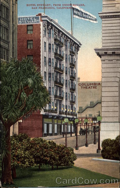 Hotel Stewart from Union Square San Francisco California