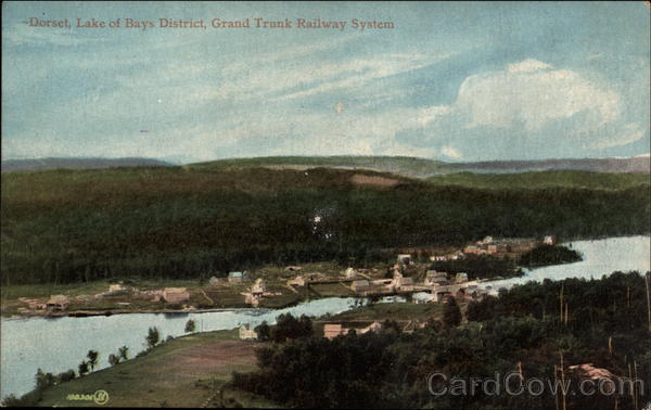 Lake of Bays District, Grand Trunk Railway Systems Dorset England
