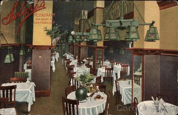 Solari S Restaurant San Francisco Ca