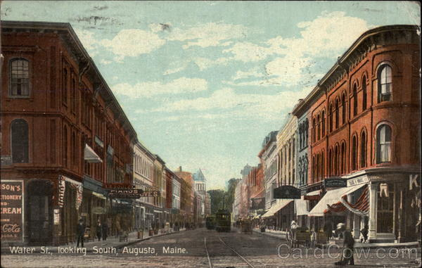 Water St., Looking South Augusta Maine