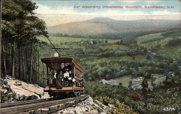 Car Descending Uncanoonuc Mountain Manchester New Hampshire