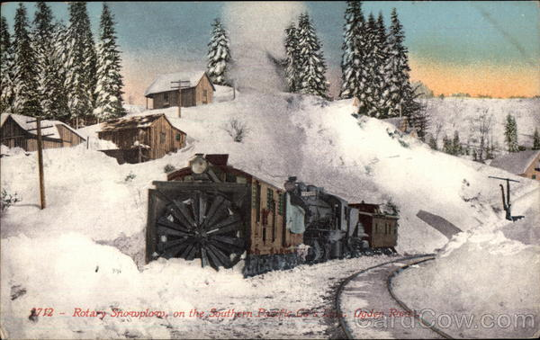 Rotary Snowplow on the Southern Pacific Rys Ogden Route
